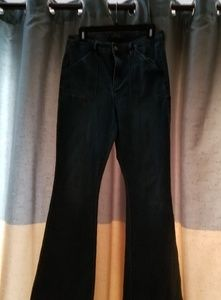 THE LIMITED HIGH WAISTED FLARE SZ 12 DENIM JEANS
